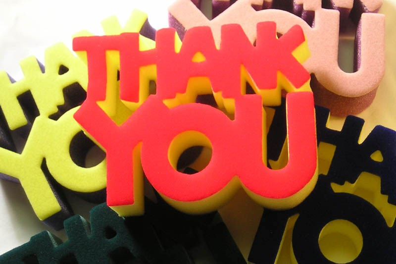 Diecut foam Thank You